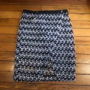Wrap Woven Skirt With Snap Closure